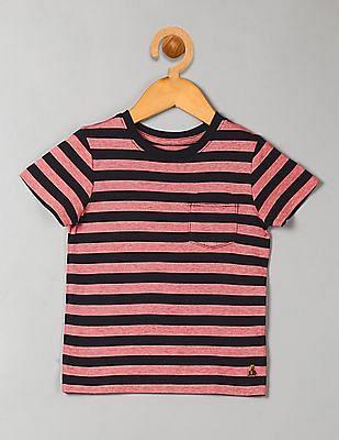 GAP Toddler Boy Pink Stripe Pocket T-Shirt