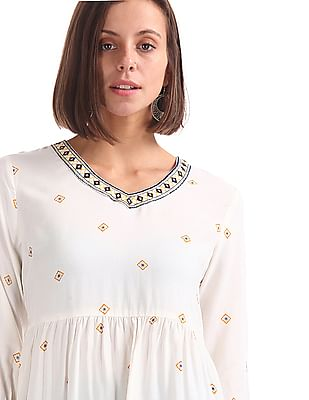 Bronz Regular fit Printed Tunic