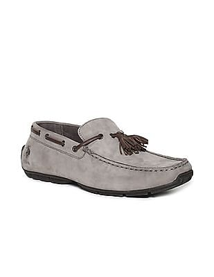 U.S. Polo Assn. Grey Low Top Tasselled Loafers