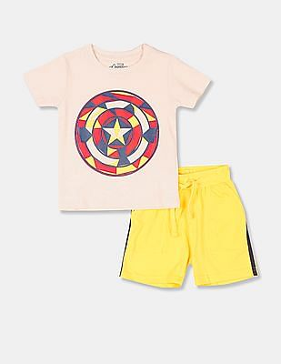 Colt Boys Assorted Marvel Print T-Shirt And Shorts Set