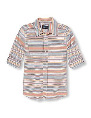 The Children's Place Boys Short Sleeve Cotton Shirt
