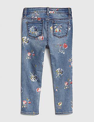 GAP Toddler Girl Superdenim Floral Skinny Jeans With Fantastiflex