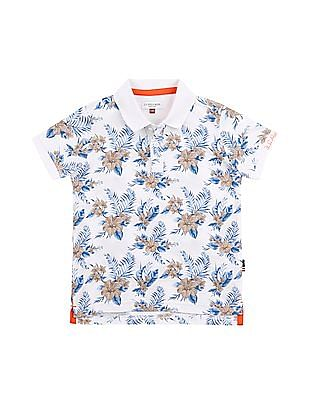 U.S. Polo Assn. Kids Boys Tropical Print Polo Shirt