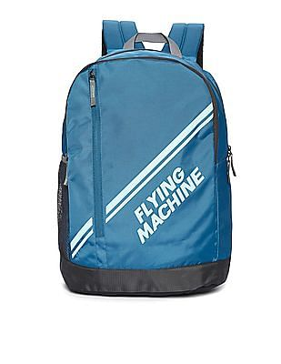Flying Machine Brand Print Laptop Backpack