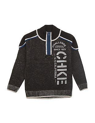 Cherokee Boys High Neck Zip Up Sweater