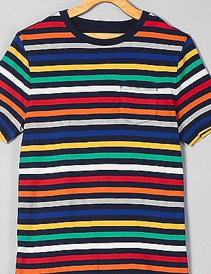 GAP Boys Short Sleeve Stripe Tee