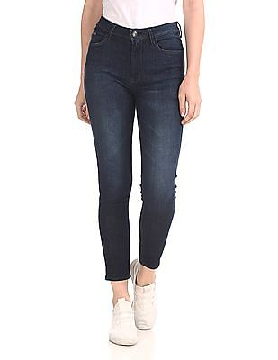 Flying Machine Women Blue Veronica Skinny Fit Rinsed Jeans