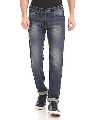 Flying Machine Michael Slim Tapered Fit Faded Jeans