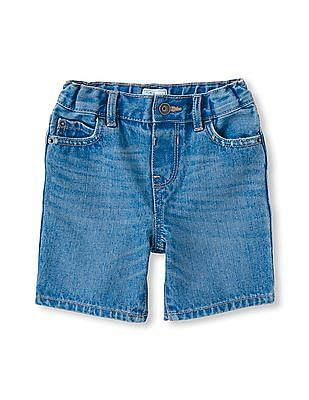 The Children's Place Toddler Boy Five-Pocket Denim Roll-Up Shorts