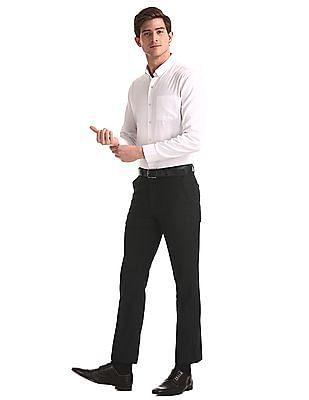 Excalibur Grey Super Slim Fit Solid Trousers