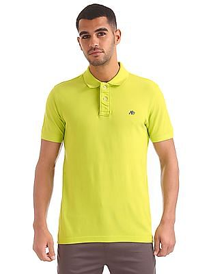 dca5a7872 Buy Men AE1010016309 Lime Mens T-Shirt online at NNNOW.com