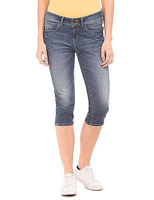 U.S. Polo Assn. Women High Rise Capri Jeans