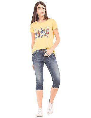 U.S. Polo Assn. Women High Rise Capri Jeans