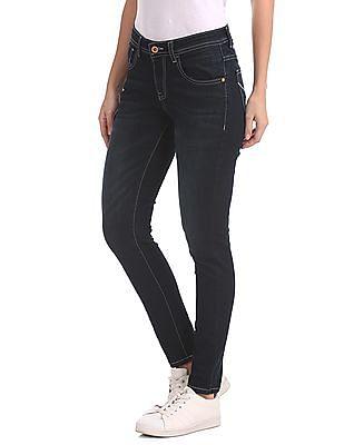 U.S. Polo Assn. Women Super Skinny Mid Rise Jeans
