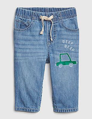 GAP Baby Graphic Pull-On Jeans
