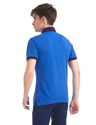 Izod Slim Fit Contrast Collar Polo Shirt