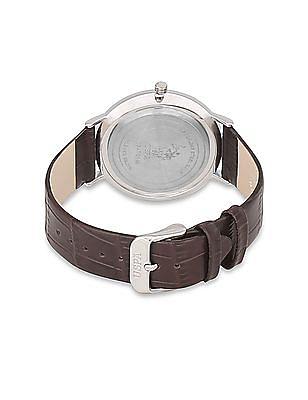 U.S. Polo Assn. Textured Strap Analog Watch
