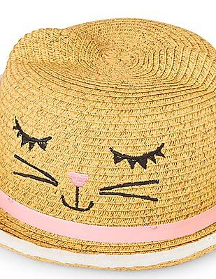 The Children's Place Toddler Girl Kitty Ears Straw Sun Hat