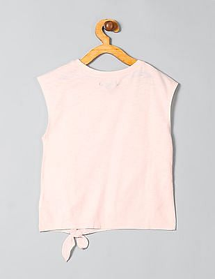 GAP Girls Embroidered Graphic Knot Tee