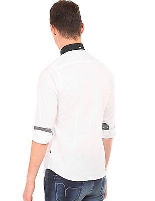 Flying Machine Panelled Slim Fit Shirt