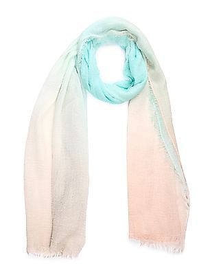 SUGR Ombre Dye Fringed Stole