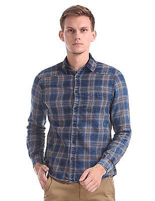 Cherokee Spread Collar Check Shirt