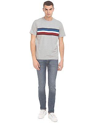 Aeropostale Crew Neck Striped T-Shirt