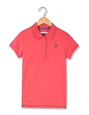 U.S. Polo Assn. Women Standard Fit Solid Polo Shirt