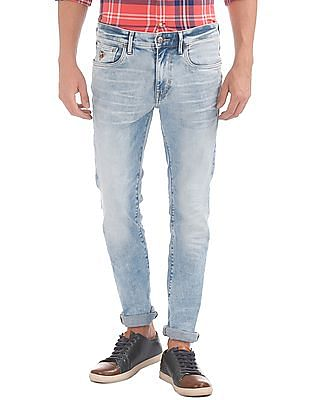 U.S. Polo Assn. Denim Co. Whiskered Skinny Fit Jeans