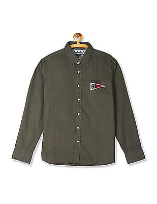 Flying Machine Cutaway Collar Solid Shirt