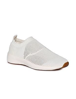Stride Knitted Upper Slip On Shoes