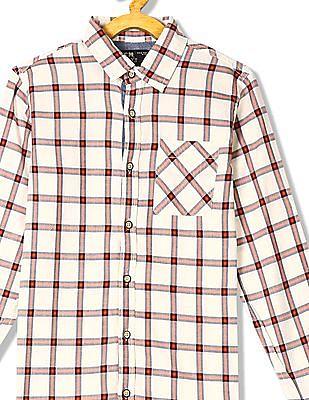 FM Boys Long Sleeve Checked Shirt