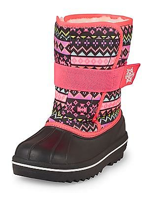The Children's Place Girls Chinle Print Snow Boot