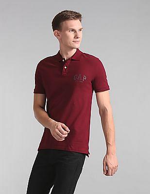 GAP Short Sleeve Wash Logo Polo