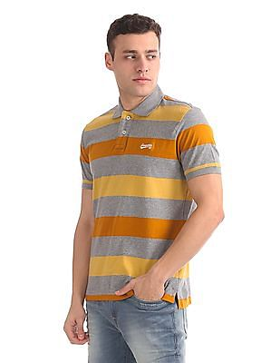 Aeropostale Regular Fit Stripe Polo Shirt