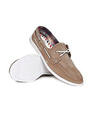 Aeropostale Lace Up Canvas Boat Shoes