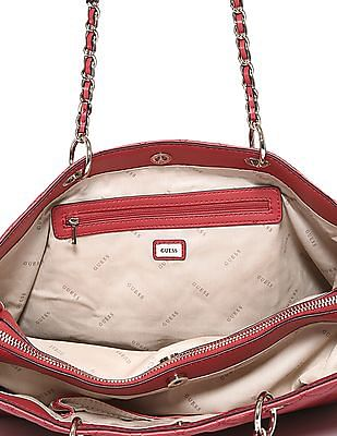 GUESS Linked Chain Quilted Shoulder Bag