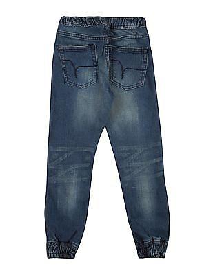 FM Boys Boys Drawstring Waist Jogger Jeans