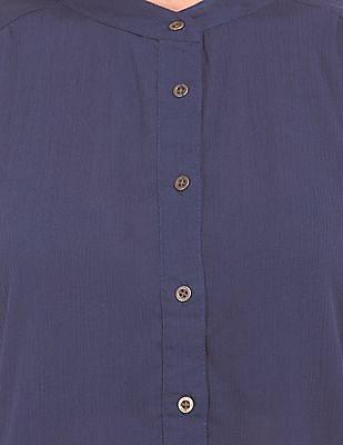 Cherokee Mandarin Collar Boxy Shirt