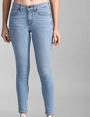 GAP Women Blue Skinny Fit Mid Rise Jeans
