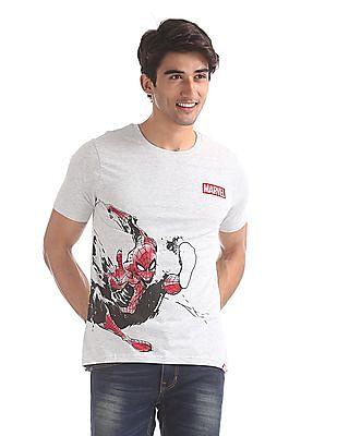 Colt Grey Crew Neck Spiderman Graphic T-Shirt