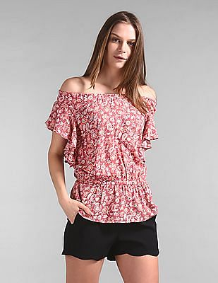 GAP Off-Shoulder Floral Print Top
