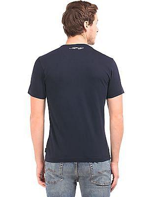 Ed Hardy Appliqued Flag Cotton T-shirt