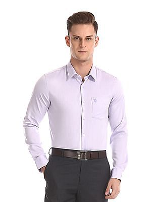 USPA Tailored French Placket Mitered Cuff Shirt