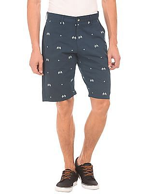 U.S. Polo Assn. Denim Co. Printed Vintage Wash Shorts