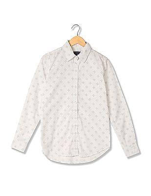 Aeropostale Spread Collar Printed Shirt