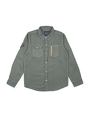 Cherokee Boys Long Sleeve Cotton Shirt