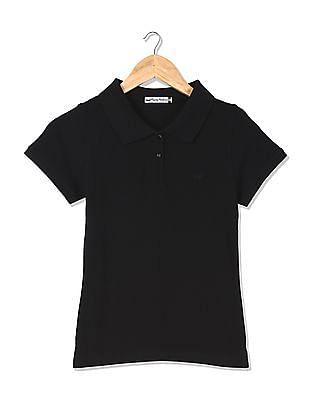 Flying Machine Women Standard Fit Short Sleeve Polo Shirt