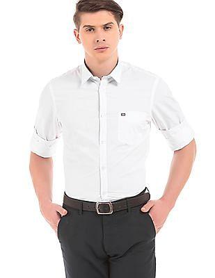 Arrow Sports Long Sleeve Slim Fit Shirt