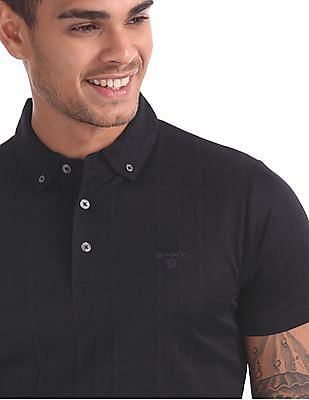 Gant Original Check Jacquard Short Sleeve Rugger Polo Shirt
